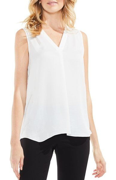 Vince Camuto rumpled satin blouse in new ivory