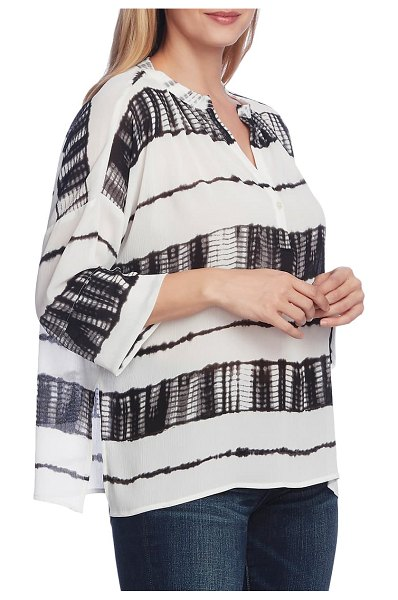 Vince Camuto shibori stripe dolman sleeve blouse in new ivory