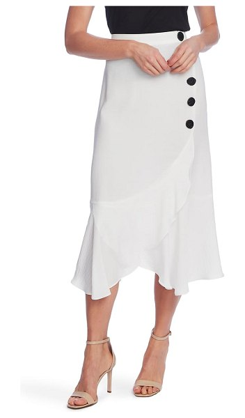 Vince Camuto side button asymmetrical skirt in new ivory
