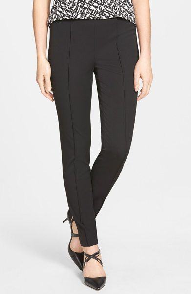 Vince Camuto side zip stretch twill pants in rich black