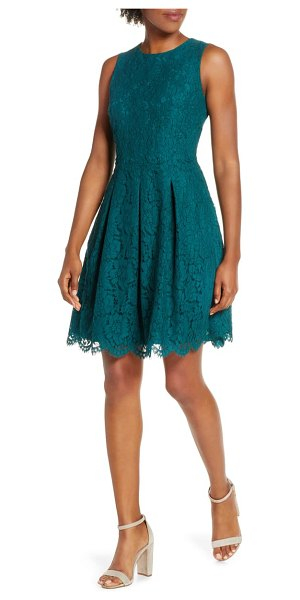 Vince Camuto sleeveless lace fit & flare dress in pine