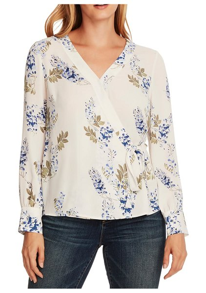 Vince Camuto weeping willows wrap blouse in fair ivory