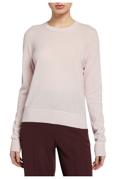 Vince Cashmere Crewneck Long-Sleeve Top in pink