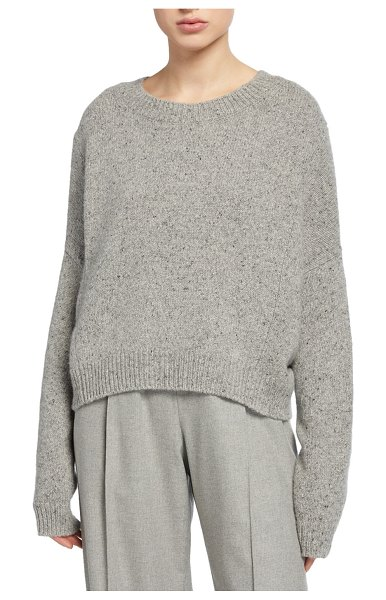 Vince Cashmere Double-Seam Sweater in gray