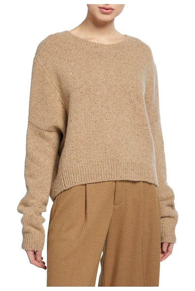 Vince Cashmere Double-Seam Sweater in beige