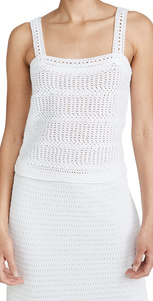Vince crochet cami in optic white