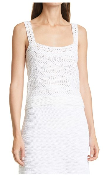 Vince crochet camisole in optic white