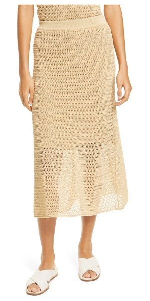 Vince crochet cotton blend skirt in vanilla
