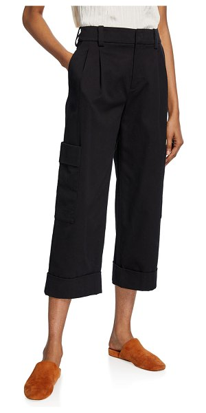 Vince Cropped Cargo Pants in black