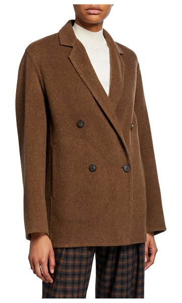 Vince Double-Breasted Cardigan Coat in brown