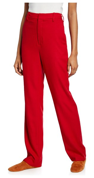 Vince Flannel Tailored Pants in red