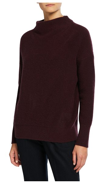 Vince Funnel-Neck Cashmere Sweater in purple