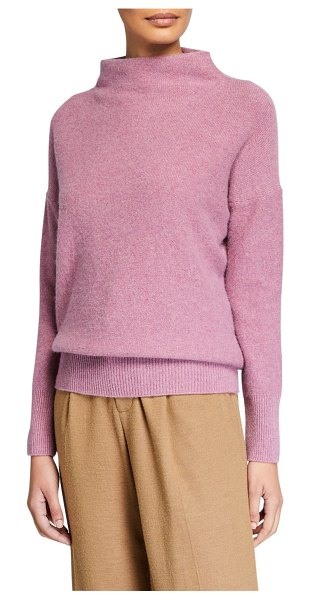 Vince Funnel-Neck Cashmere Sweater in pink