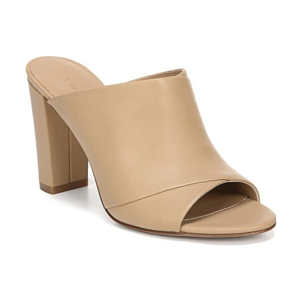 Vince heath cross strap sandal in nude leather