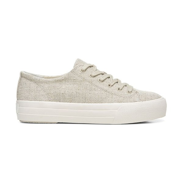 Vince heaton canvas platform sneakers in natural
