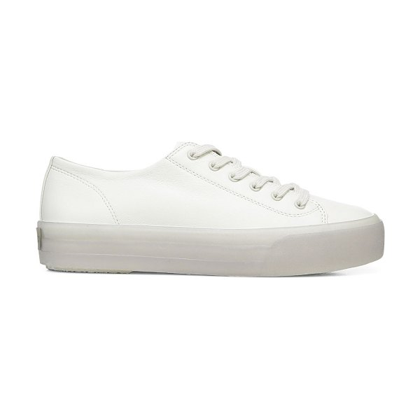 Vince heaton leather platform sneakers in off white