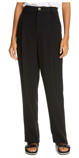 Vince high waist tapered pants in black