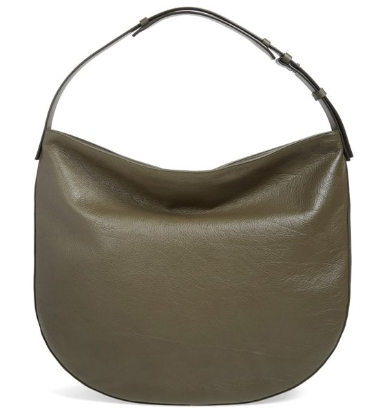 Vince 'hudson' leather hobo bag in green - Smooth leather adds to the on-trend appeal of a lightly...