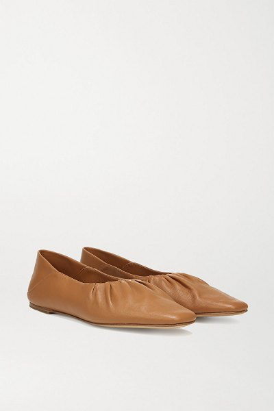 Vince kali leather flats in tan
