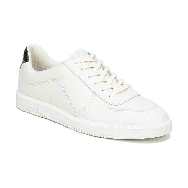 Vince low top sneaker in off white