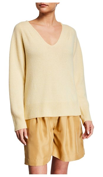 Vince Marled V-Neck Sweater in solaria