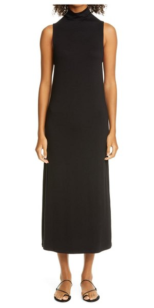 Vince mock neck sleeveless midi dress in oak