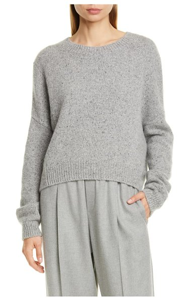 Vince oversize boxy cashmere crewneck sweater in soft grey
