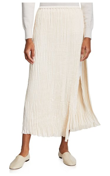 Vince Pleated Paneled Midi Skirt in chiffon