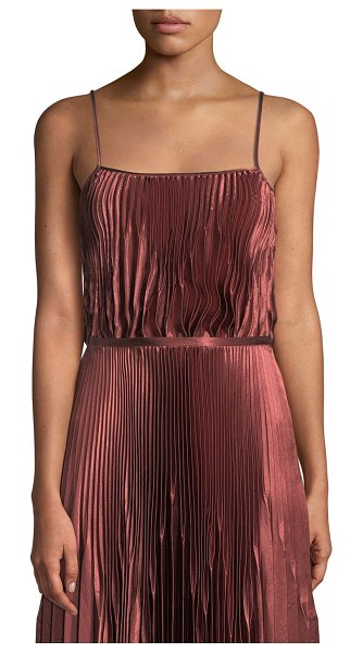 Vince Pleated Square-Neck Tank in anise