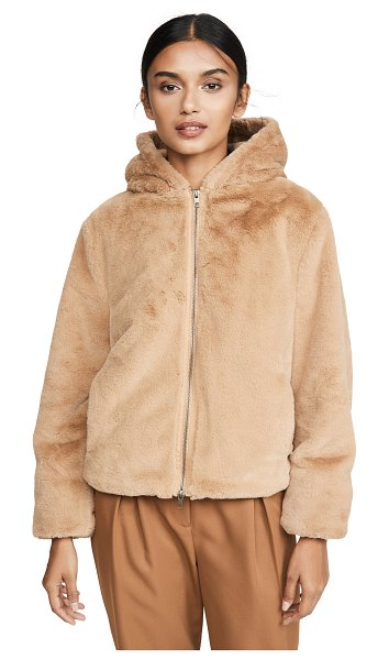 Vince plush hoodie in sand dollar