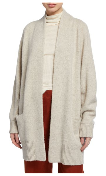 Vince Raglan-Sleeve Cashmere Cardigan in gray