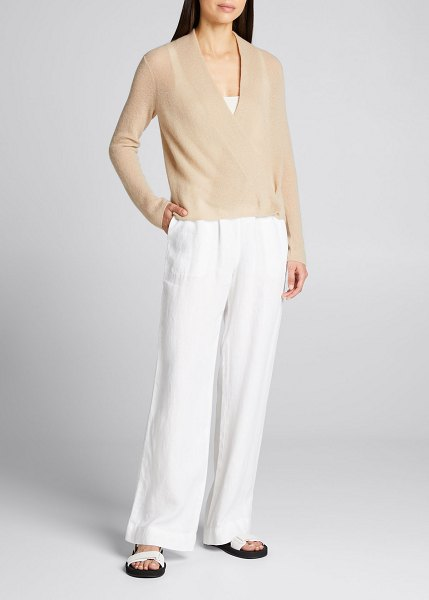 Vince Ribbed Convertible Cardigan in h clay
