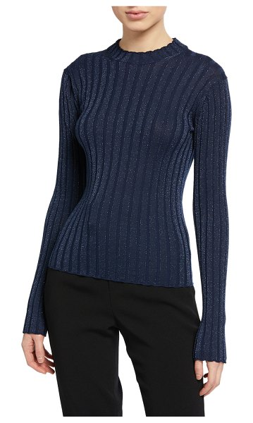 Vince Ribbed Pullover Sweater in blue