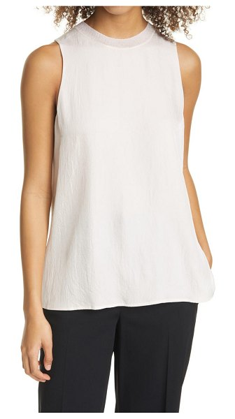 Vince ribbed trim tank in pale rose water
