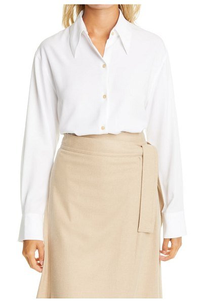 Vince shaped collar shirt in optic white