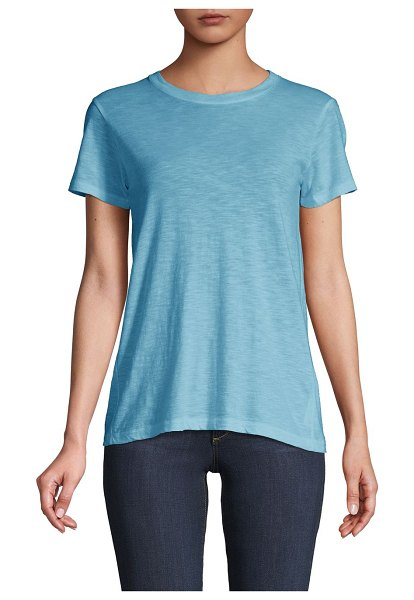 Vince Short-Sleeve Cotton Tee in blue pumice