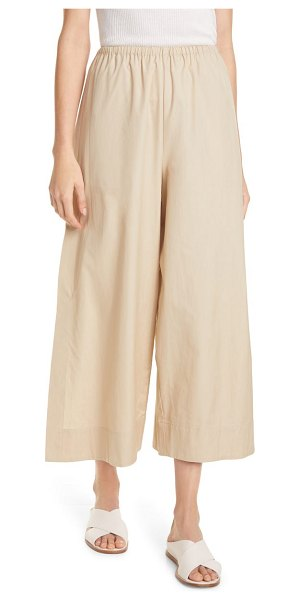 Vince side slit culottes in clay