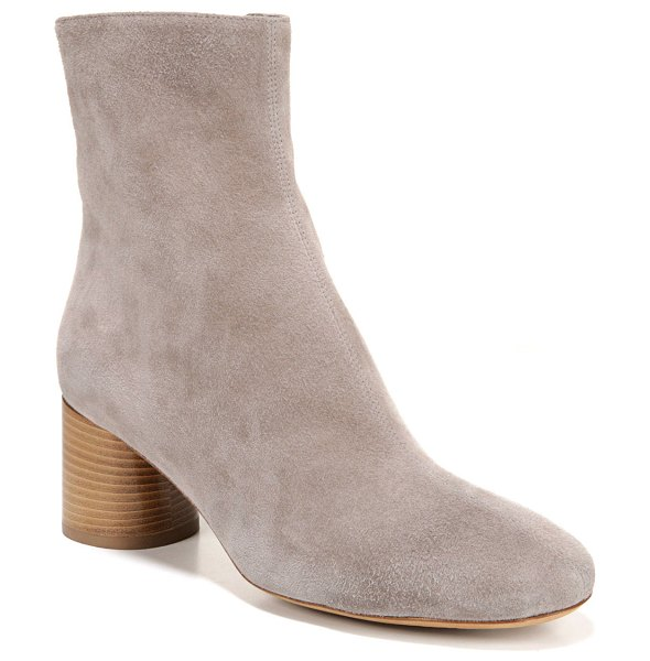 Vince Tasha Kid Suede Booties in brown