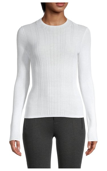 Vince Textured Knit Sweater in optic white