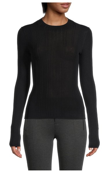 Vince Textured Knit Sweater in coastal navy