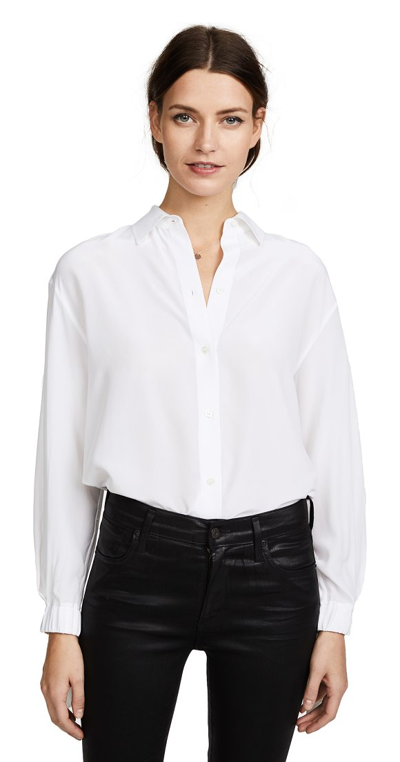 7c256f410caff Vince Tie Sleeve Blouse in White