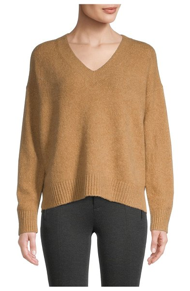 Vince V-Neck Sweater in camel
