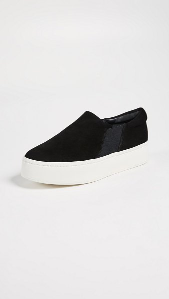 Vince warren platform sneakers in black