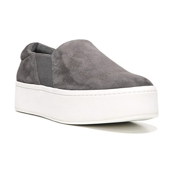 Vince warren slip-on sneaker in steel suede
