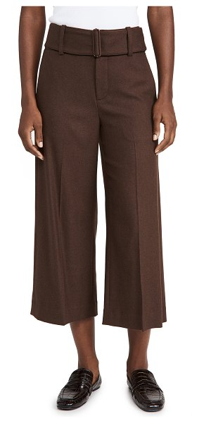 Vince wide leg belted culottes in hickory