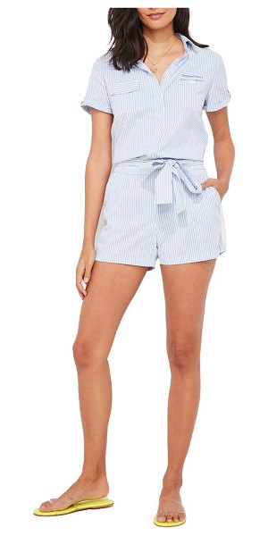 Vineyard Vines vinyard vines harbor stripe seersucker romper in breaker blue stripe