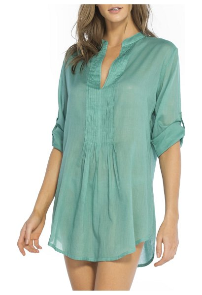 ViX Swimwear mini pleat cover-up caftan in green