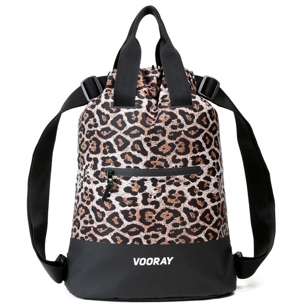 VOORAY flex cinch backpack in cheetah