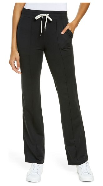 vuori halo wide leg pants in black