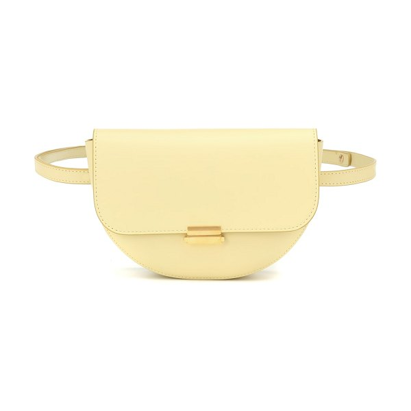 WANDLER anna buckle big leather belt bag in beige